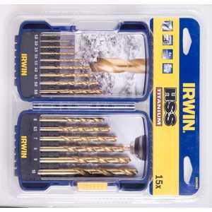 Набор сверл по металлу Irwin 1.5-10.0мм 15шт Titanium (10503991) Скопин купить инструмент в интернет магазине