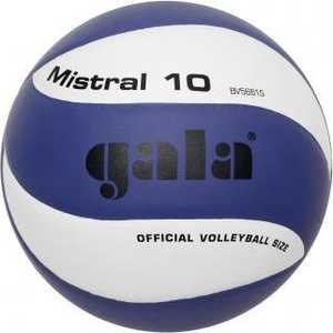 Мяч волейбольный Gala Mistral 10, арт. BV5661S, р. 5, бело-синий баскетбольный мяч gala boston 7 арт bb7041r