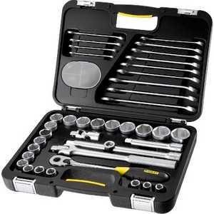 Набор торцевых головок Stanley и комбинированных ключей 40 предметов (1-99-056) набор ключей комбинированных кратон cws 09 2 27 03 009 9 предметов