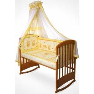 Купить со скидкой Комплект в кроватку Perina ''Ника'' 7 предметов (мишка на подушке/бежевый) Н7-01.2