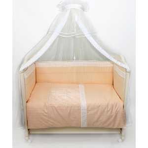 Комплект в кроватку Сдобина ''Нежность 2'' 7 предметов (бежевый) холлофайбер 88
