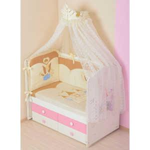 Комплект в кроватку Сдобина Принцесса 7 предметов (бежевый) 83