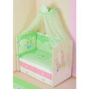 Комплект в кроватку Сдобина Принцесса 7 предметов (салатовый) 83