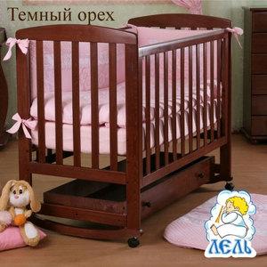 Кроватка Кубаньлесстрой Ромашка ящик тёмный орех АБ 16.1