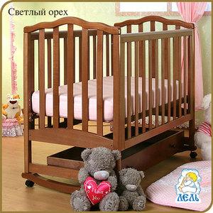 Кроватка Кубаньлесстрой Жасмин с ящиком светлый орех АБ 19.1
