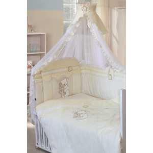 Комплект в кроватку Золотой гусь Сабина (молочный) 1413