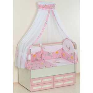 Комплект в кроватку Сдобина 5 предметов (розовый) 25.4 цена и фото