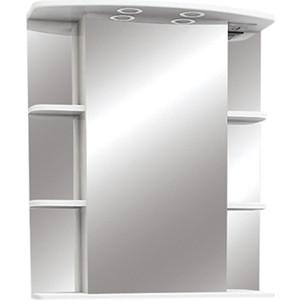 Зеркальный шкаф Меркана Магнолия 65 с подсветкой, белый (7328) зеркальный шкаф bellezza магнолия 55 с подсветкой r белый