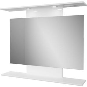 Фото - Зеркало Меркана Коралл 80 с подсветкой, белое (14270) зеркало меркана виттория 82 см 2 шкафа по бокам свет розетка выключатель 27666