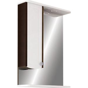 Фото - Зеркало-шкаф Меркана Ольга 55 с подсветкой, венге (16023) зеркало меркана виттория 82 см 2 шкафа по бокам свет розетка выключатель 27666