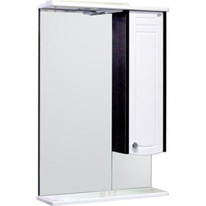Фото - Зеркало-шкаф Меркана Ольга 55 с подсветкой, венге (16018) зеркало меркана виттория 82 см 2 шкафа по бокам свет розетка выключатель 27666