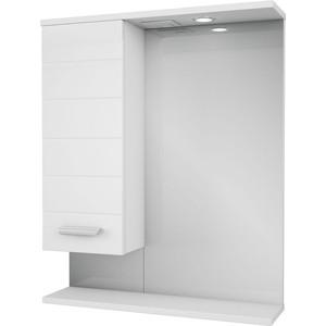 Фото - Зеркало-шкаф Меркана Таис 61 белый каннелюр (16285) зеркало меркана виттория 82 см 2 шкафа по бокам свет розетка выключатель 27666