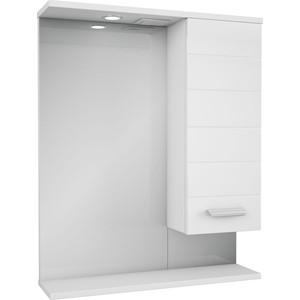 Фото - Зеркало-шкаф Меркана Таис 61 белый каннелюр (16286) зеркало меркана виттория 82 см 2 шкафа по бокам свет розетка выключатель 27666