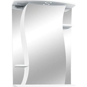 Зеркальный шкаф Меркана Лилия 55 с подсветкой, белый (11886)