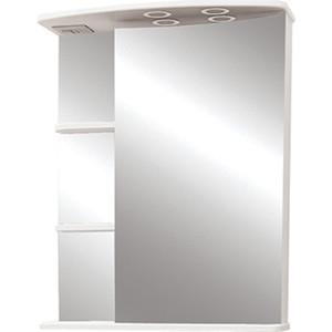 Зеркальный шкаф Меркана Магнолия 60 с подсветкой, белый (7326)