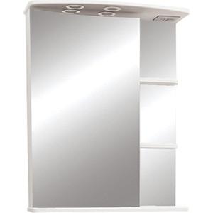 Зеркальный шкаф Меркана Магнолия 60 с подсветкой, белый (7327)