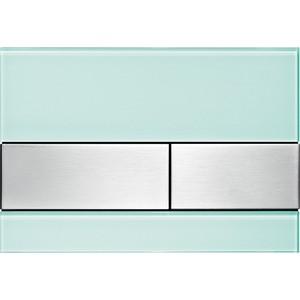 Панель смыва TECE square стекло зелёное, клавиши нержавеющая сталь (9240804) 115 890 sn 5 электр блок датчика и клавиши 230в с клавишей sigma10 для унитаза матов полиров матов нерж сталь
