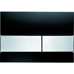 Панель смыва TECE square стекло чёрное, клавиши нержавеющая сталь (9240806) 115 890 sn 5 электр блок датчика и клавиши 230в с клавишей sigma10 для унитаза матов полиров матов нерж сталь