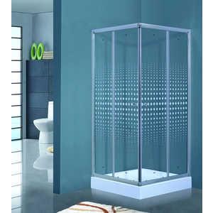 Душевой уголок Timo Viva Lux 80х80 прозрачный с рисунком Romb (TL-8002 R) душевой уголок timo biona lux tl 1101 fabric glass 100х100х200 см