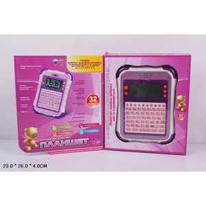 Joy Toy Компьютер 7243 Планшет, обучающий, русско-английский, на батарейках, в коробке 26х22х3,5см