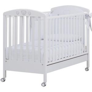 Кроватка Erbesi Abbraccio Swarovski белый White