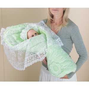 Одеяло-конверт Сдобина для новорожденного (салатовый) 72.2