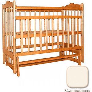 Кроватка Ивашка Мой малыш 9 поперечный маятник накладка/слоновая кость