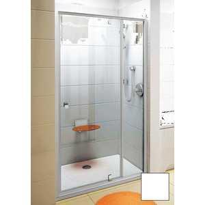 Душевая дверь Ravak Pivot PDOP2 120 прозрачная Транспарент, белый (03GG0100Z1)