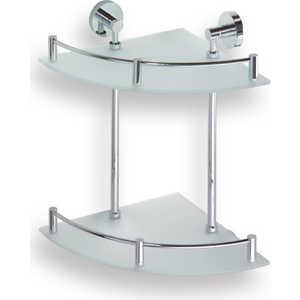Полка стеклянная Bemeta двойная угловая 280x280x380 мм (104202142)