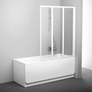Шторка на ванну Ravak Supernova VS3 115 прозрачная, белый (795S0100Z1)
