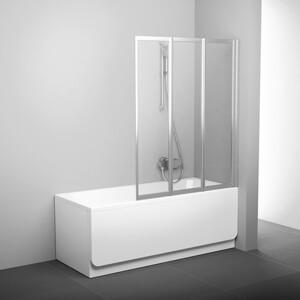 Шторка на ванну Ravak Supernova VS3 130 прозрачная, сатин (795V0U00Z1)
