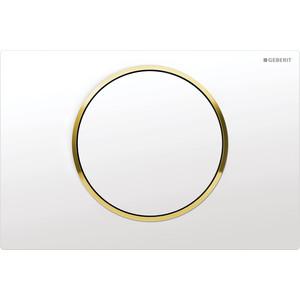 Кнопка смыва Geberit Sigma 10 белый/золото (115.758.KK.5)