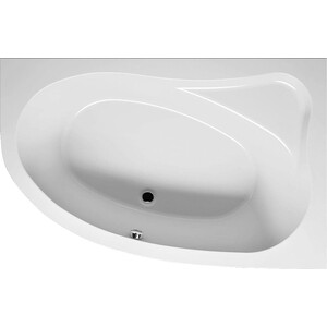 Акриловая ванна Riho Lyra 153x100 L левая, с каркасом (BA6800500000000, 2YNLU1012) акриловая ванна riho lyra левая 140x90x49