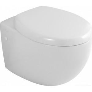 Унитаз подвесной Villeroy Boch Aveo Plus с сиденьем микролифт, белый альпин (6612 10R1, 9M57S1R1)