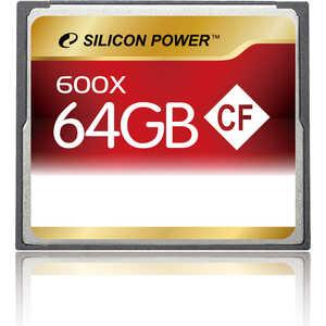 Фото - Карта памяти Silicon Power SP064GBCFC600V10 карта памяти compact flash kingston canvas focus 128 гб