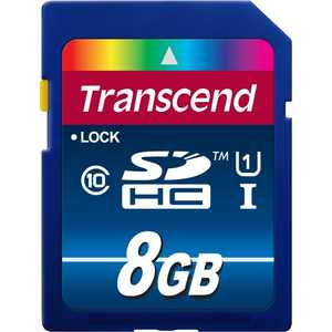 Фото - Карта памяти Transcend TS8GSDU1 карта памяти 16gb transcend high capacity ultimate class 10 secure digital ts16gsdhc10