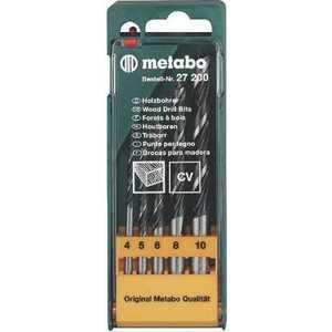 Набор сверл по дереву Metabo 4.0-10.0 мм 5шт (627200000)