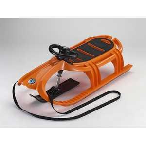 Санки KHW Snow Tiger de Luxe с рулем и лыжней (оранжевый) 21605