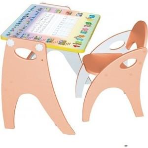 Набор мебели Интехпроект Части света парта-мольберт и стульчик (персиковый)
