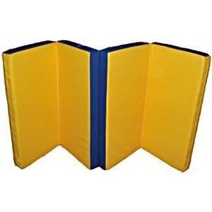 Мат складной КМС номер 5 (100x200x10см) синий/желтый