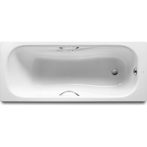 Стальная ванна Roca Princess 170x70 с ручками, на ножках
