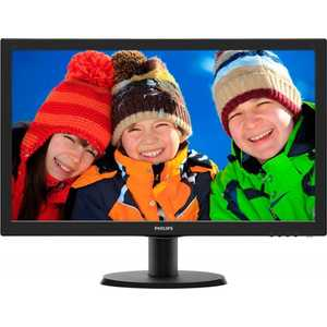 Монитор Philips 243V5LHAB Black монитор philips 221b7qpjkeb