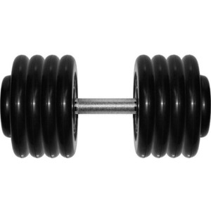 Гантель профессиональная MB Barbell Профи черная 43.5 кг гиря mb barbell 16 кг