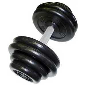 Гантель профессиональная MB Barbell Профи черная 48.5 кг гиря mb barbell 16 кг