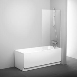 Шторка на ванну Ravak Pivot PVS1-80 прозрачная, белый (79840100Z1) недорого