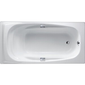 Чугунная ванна Jacob Delafon Super Repos 180x90 с ручками, на ножках (E2902-00, E75110-CP, E4113-NF)