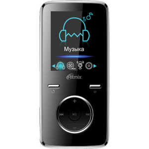MP3 плеер Ritmix RF-4950 4Gb black mp3 плеер ritmix rf 4450 4gb blue orange