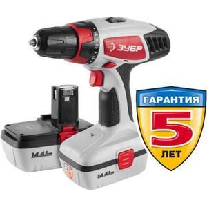 цена на Аккумуляторная дрель-шуруповерт Зубр ЗДА-14.4-2 КИН20