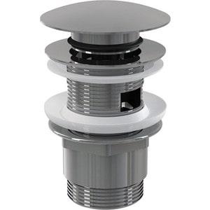 Донный клапан AlcaPlast Click-clack 5/4 цельнометаллический, с большой заглушкой (A390)