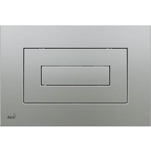 Кнопка смыва AlcaPlast матовый хром (M472)